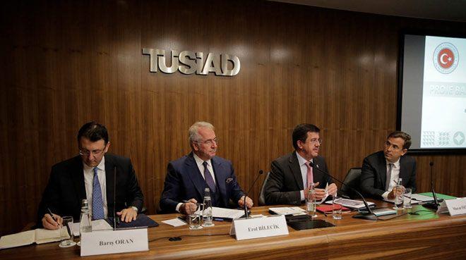 Ekonomi Bakanı Zeybekci TÜSİAD'ı ziyaret etti
